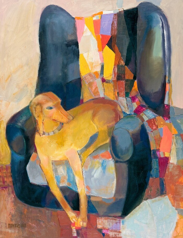 "Viacheslav Prykhodko, ""Maggie"", 2005, oil on canvas, 100х70"