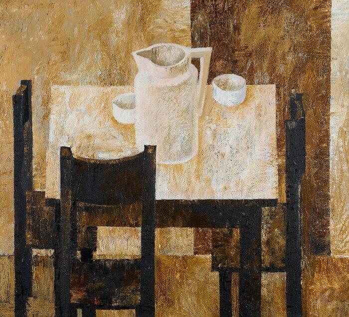 В'ячеслав Приходько, «Натюрморт із білим глечиком», 1970 рік, полотно, олія, 84х93