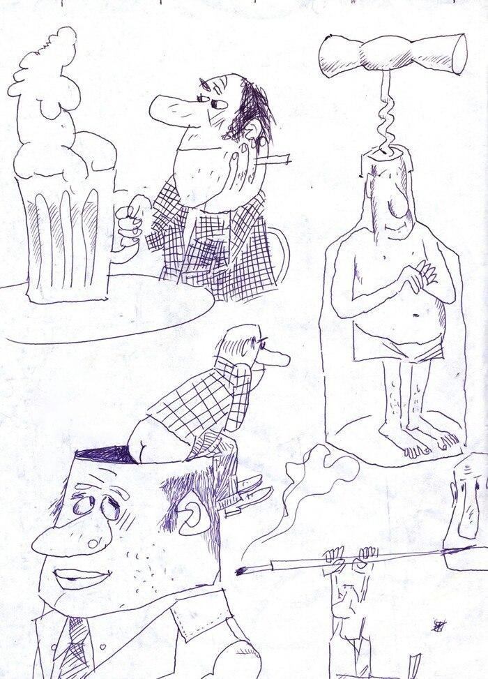 В'ячеслав Приходько, карикатури