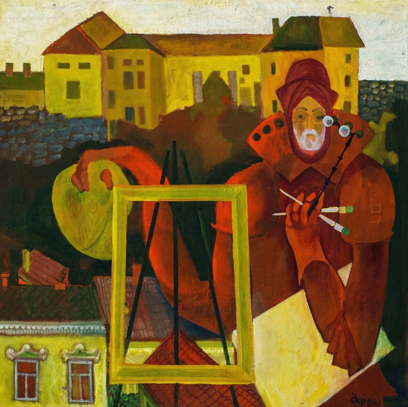 """Ф. Семан """"Автопортрет. Володар ужгородського замку"""", 2001"""