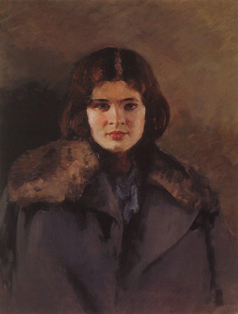 "Ihor Hrabar, ""Svitlana"", 1933, oil on canvas, 78х62, State Tretyakov Gallery in Moscow"