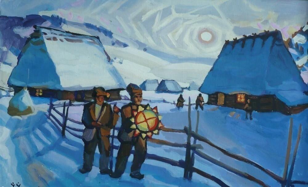 "Ivan Ilko, ""Christmas Eve. Carol singers"""
