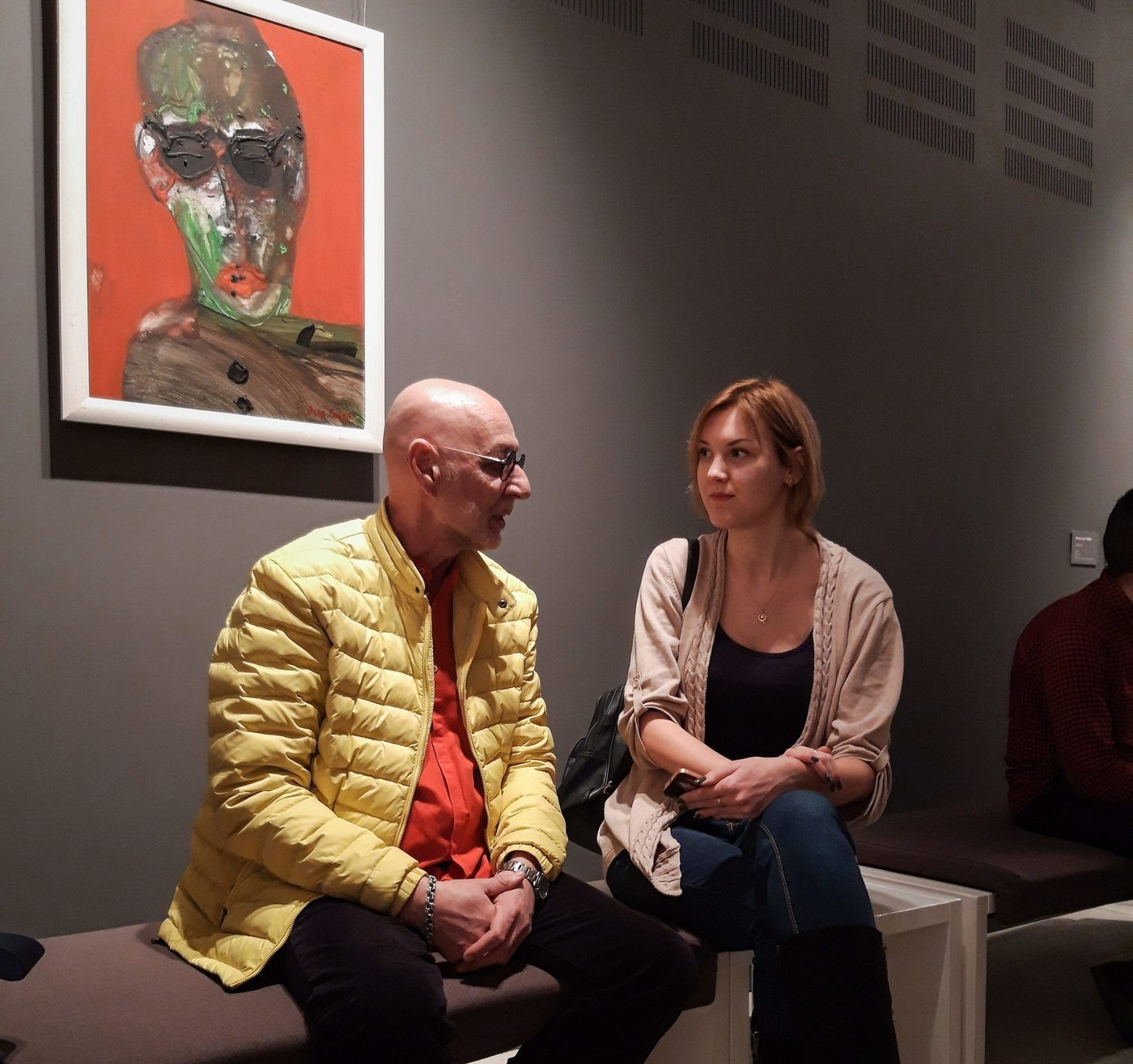 The artist Vladyslav Habda and journalist Kseniia Shokina