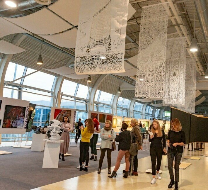 Airport Terminal as an Exhibition Ground of Lviv Art Days, autumn, 2018