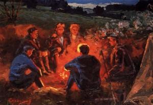 Біля вогнища, 1961