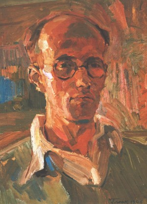 Self-portrait, 1946, oil on cardboard, 43х32,5