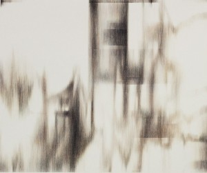 Альбіна Табака. ПРИХОВАНІ СИГНАЛИ, 2014 р. Полотно, кулькова ручка, 100х120