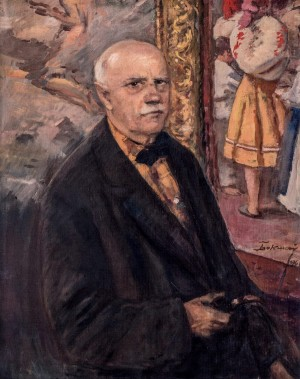 Self-portrait On The Background Of The Picture, 1966, oil on canvas, 70,5х55,5
