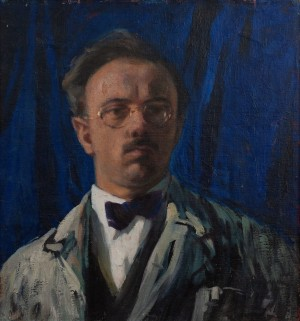 Y. Bokshai 'Self-Portrait', 1925, oil on canvas, 52x48