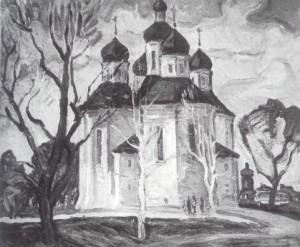 Чергінів. Пам'ятка архітектури IX-XI ст., п.о., 1969, 70х100
