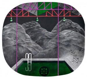 N. Ponomarenko 'Pool' From the series' Memories Of Armenia', 1978, mixed technique on paper, 33,5х37,5.