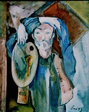 Автопортрет з порожніми очима, з фотоархіву Небесника Ю., 1993, п.о., 100х80