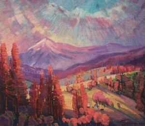 'Mount Hoverla ', 2011, oil on canvas, 70x80