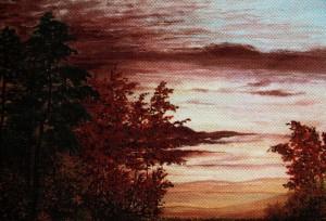 'Багряний вечір', 2010, п.о., 50х60