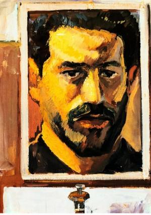 'Self-Portrait', 1965, tempera on plywood, 54,5х39,5