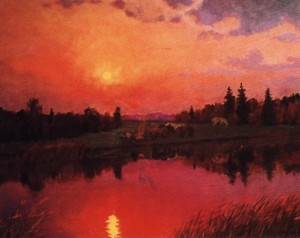 В нічному біля озера, 1986