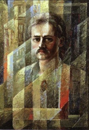 Y. Bodnar Self-portrait', 1990, oil on canvas, 70x50