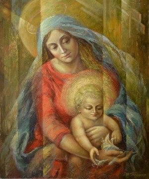 Y. Bodnar Madonna', 1996, oil on canvas, 90x75