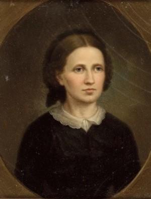 Боемм Т. 'Портрет жінки в чорному', 1864, к.о., 21,5х17