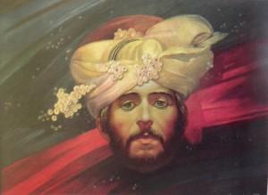 Автопортрет у чалмі, 1993, к.о., 45х60