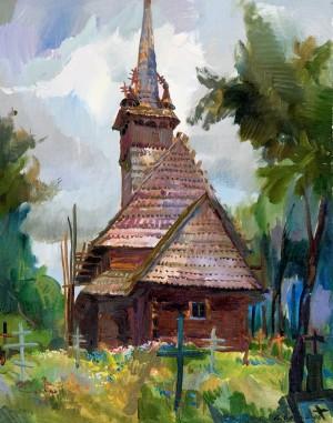 Церква в с. Данилово, 2006, п.о., 70х55