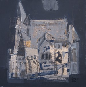 S. Lakatosh Cathedral', 2018, acrylic on canvas, 70x70