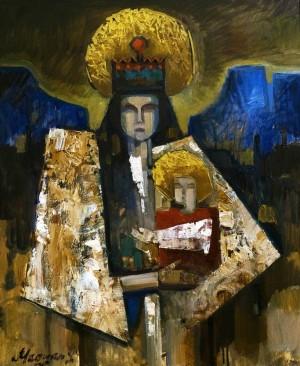 Мадяр Л.'Гуцульська Мадонна', 2015, п.о., 60х50