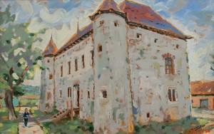 A. Sekeresh Chynadiievo Castle', 2014, oil on cardboard, 40x60