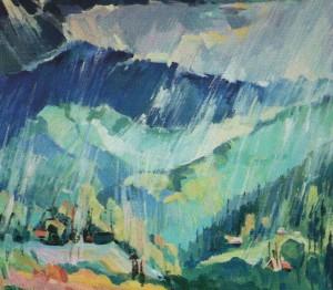 'Rainy Weather', 2012, oil on canvas, 70x80