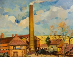 100-Year Brick Factory In Százhalombatta, oil on canvas, 60x80