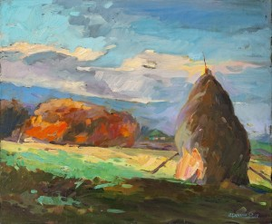 O. Tsiupko 'Last Rays', 2012, oil on canvas, 50x60