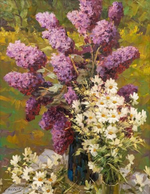 O. Fediaiev 'Lilacs And Camomile', 2017