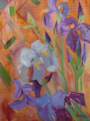 Y. Katran Irises', 2017, oil on canvas, 30x40