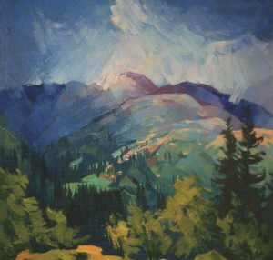 'Mount Dumen', 2012, oil on canvas, 60x70