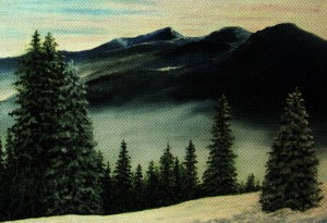 'Вид на Говерлу', 2009, п.о., 40х60