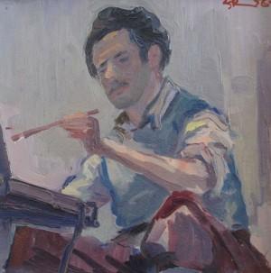 'Автопортрет', 1956, 25х25,6