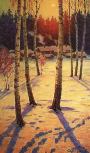 Дачі зимою, 1981