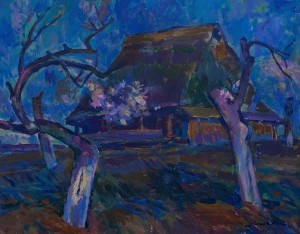 Z. Mychka Breath Of Spring', 1986, tempera on cardboard, 50x40