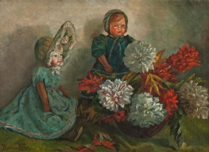 R. Boemm Still Life With Dolls', oil on canvas, 57x80
