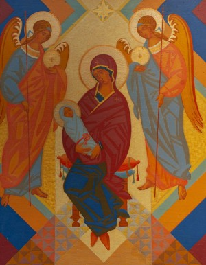M. Hresko 'Virgin Mary With The Archangels', 2005