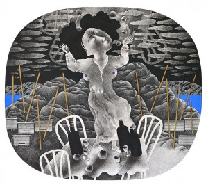 N. Ponomarenko 'In The Mountains'. From the series 'Memories Of Armenia', 1978, mixed technique on paper, 33,5х37,5