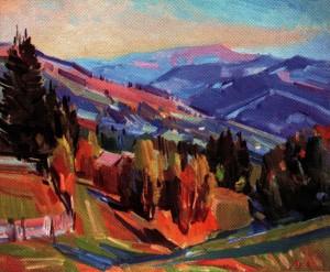 Савіних Я. 'Осінь на Рахівщині', 2010, п.о., 50х60