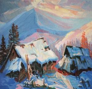 'Зимовий етюд', 2010, п.о., 60х70