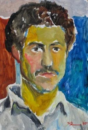 'Автопортрет', 1960, 40х26,2