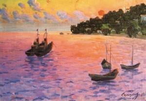 Захід сонця над морем, 1967