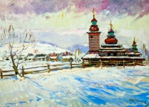 Дерев'яна церква у с.Бистрий (Свалява), 1980 р.