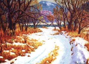 Зима, 2002, п.о., 70х80