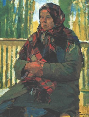 Granny From Senezh, 1952, oil on cardboard, 60,5х47