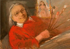 Self-Portrait (90 Years Old), 2003, oil on canvas, 50x70