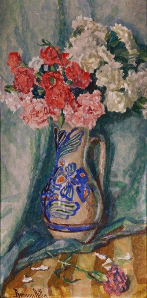 R. Boemm Still Life With Flowers', 63x32